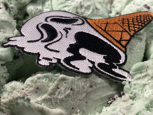 Ice Scream Cone Iron-On Patch