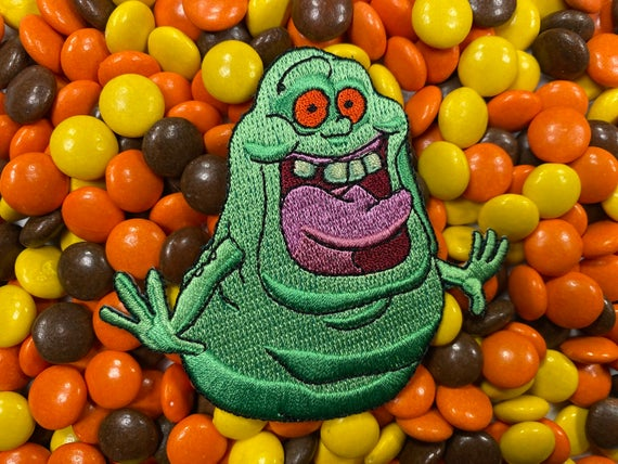 The Real Ghostbusters Cartoon Slimer Iron-On Patch