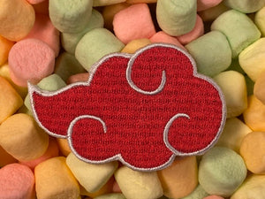 Red Anime Cloud Iron-On Patch