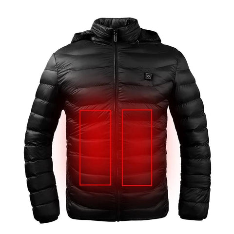 heated winter thermo jacket