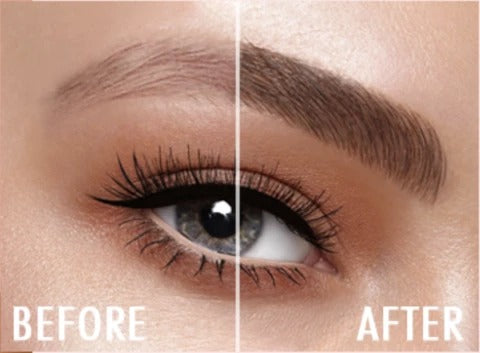 before and after the eyebrow pencil