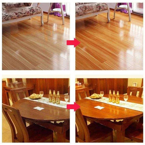 results of natural beeswax to restore wood floors and furniture