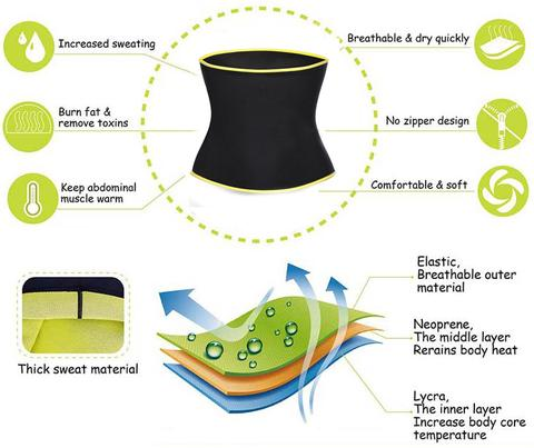 benefits of using hot shapers stomach slimming belt