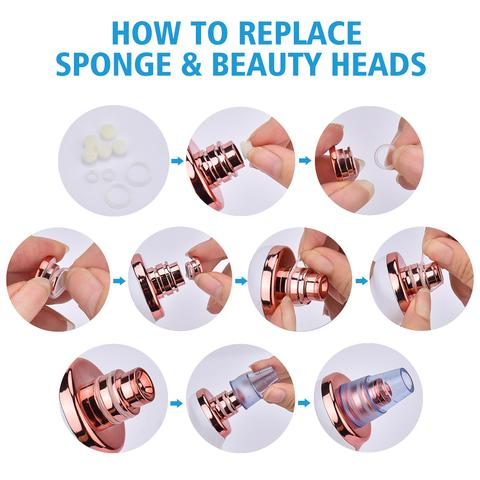 how to replace blackhead tool sponges