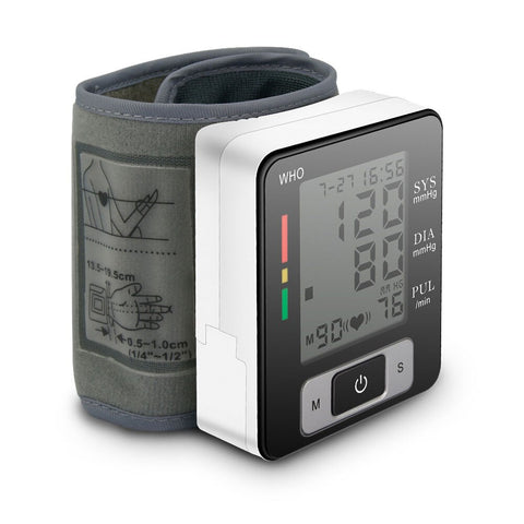 blood pressure monitor with strap for wrist