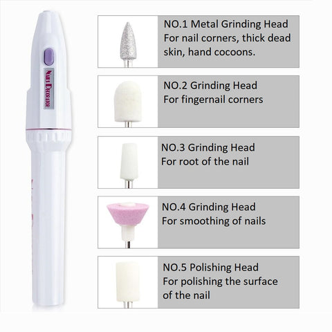 electric nail file all grinding heads information