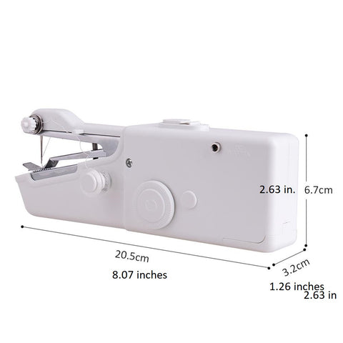handheld sewing machine measurements and dimensions