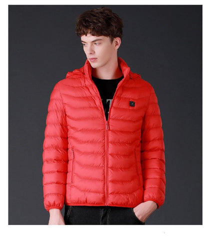 front view of heated coat