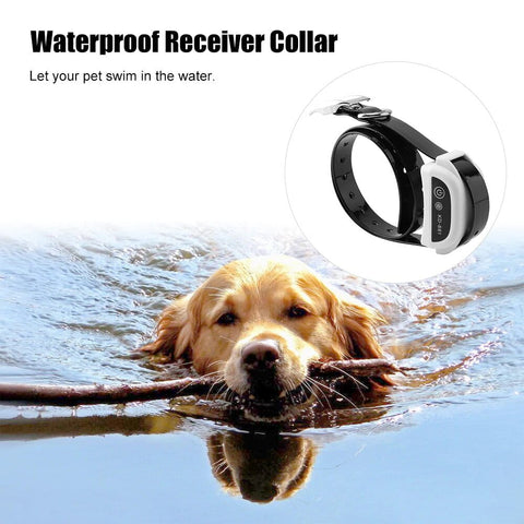 This electric dog fence collar is waterproof