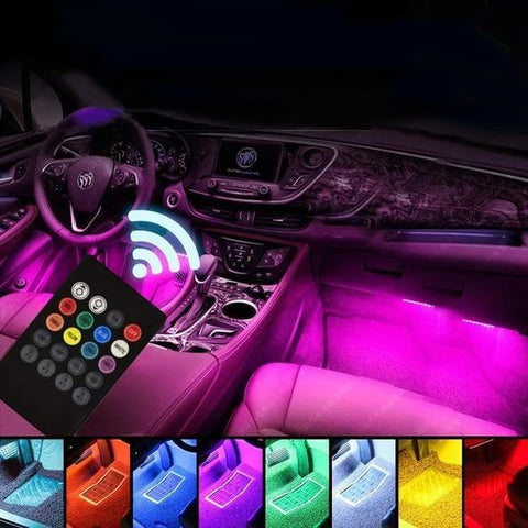led lights inside car with remote control