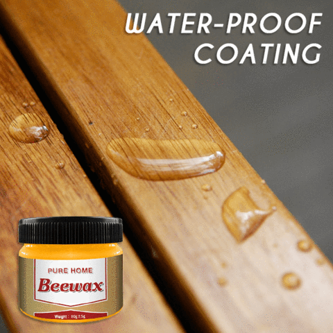 water resistant and hydrophobic natural beeswax polish for furniture