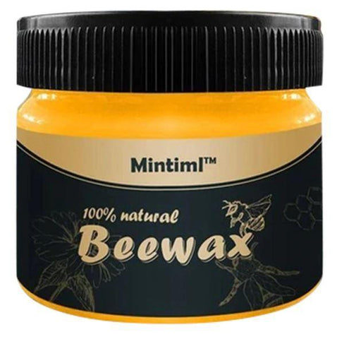 natural beeswax furniture and wood repair polish bottle
