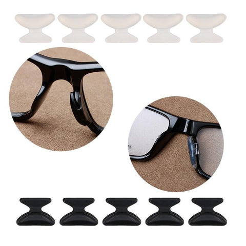 black and white eyeglass nose pads