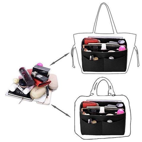 how to use the bag organizer