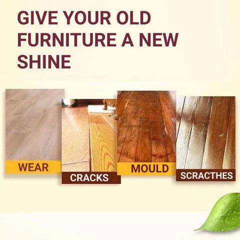 give your old furniture and wood floors a new life and shine with natural beeswax polish