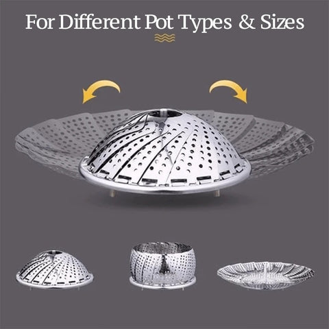 different types and sizes of steamer basket