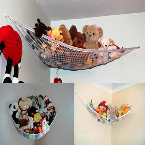 example of hanging net for stuffed animals