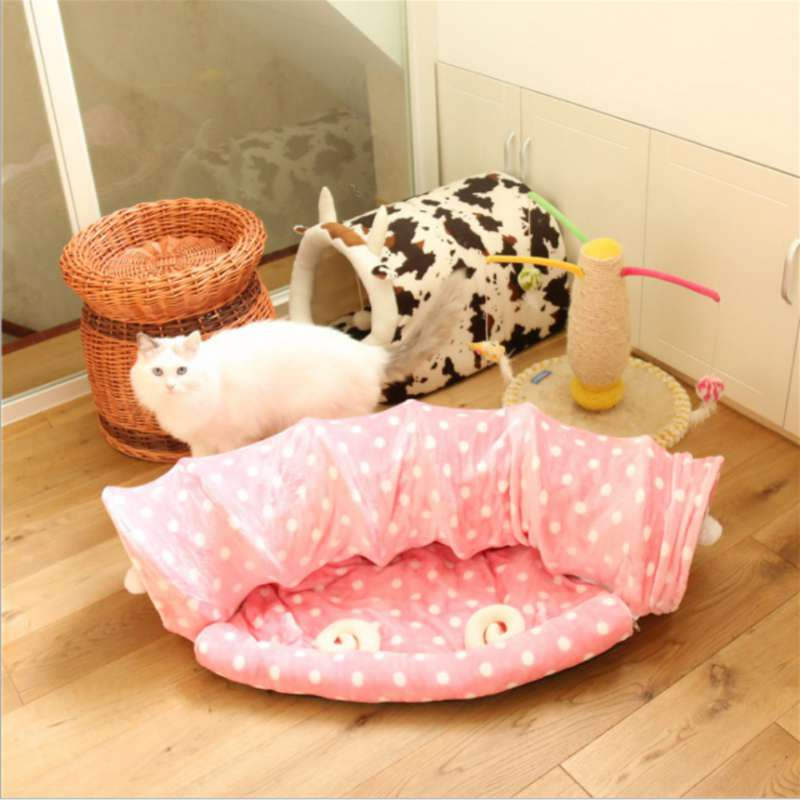 Soft Cat Tunnel & Bed Mat