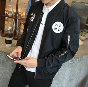 Men's Hip Hop Bomber Travel Jacket