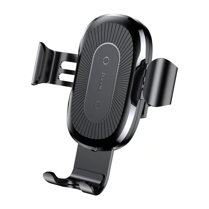 Car Phone Holder And Wireless Charger Black