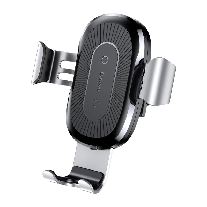 Car Phone Holder And Wireless Charger Silver