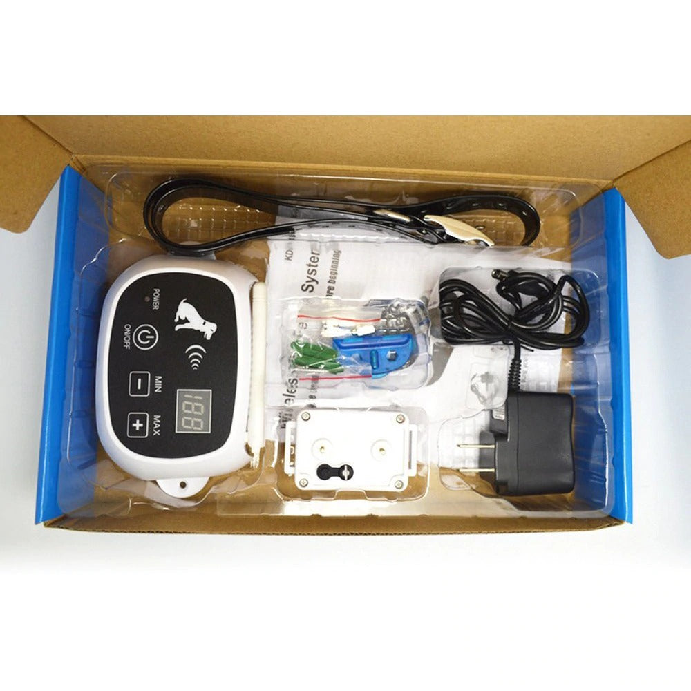wireless dog fence package contents
