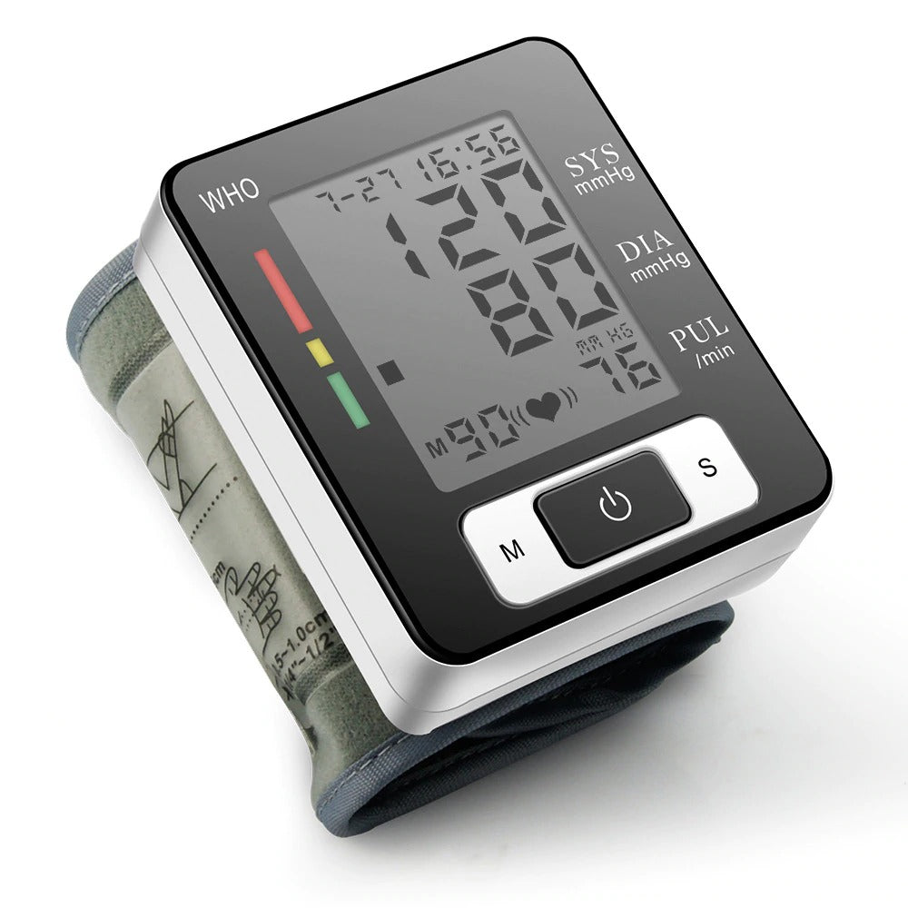 Wrist Blood Pressure Monitor With Voice
