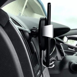 car phone holder side view