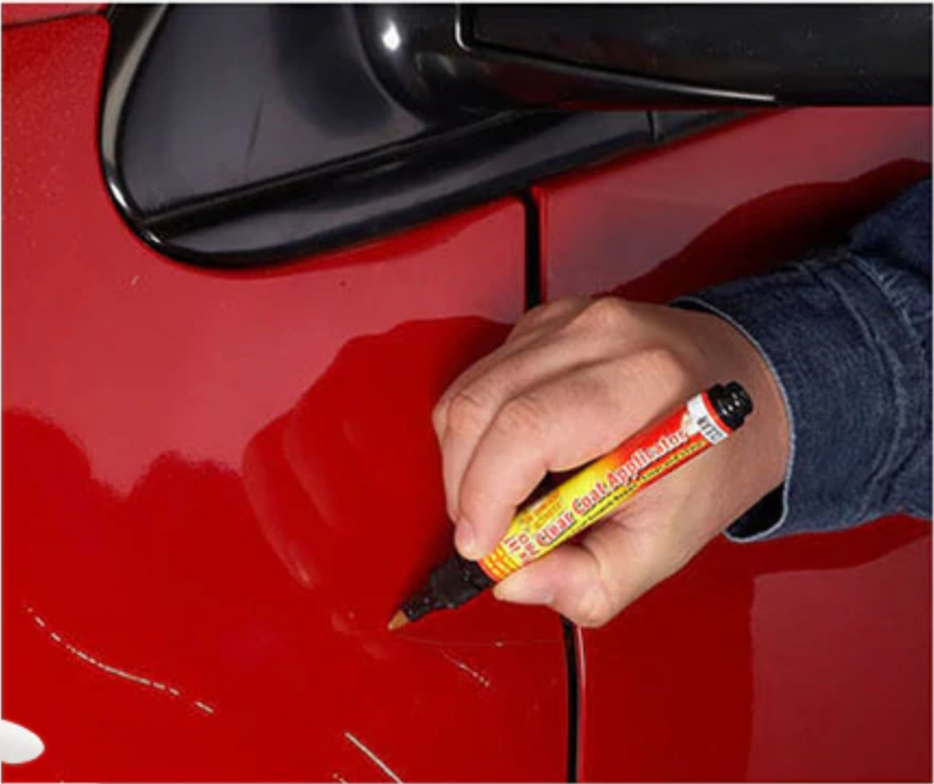 car scratch remover pen demonstration