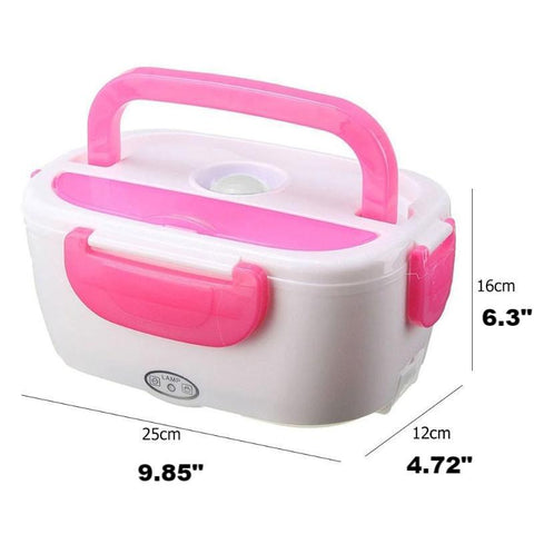 measurements of heated lunch box