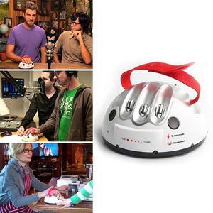 people using the lie detector toy