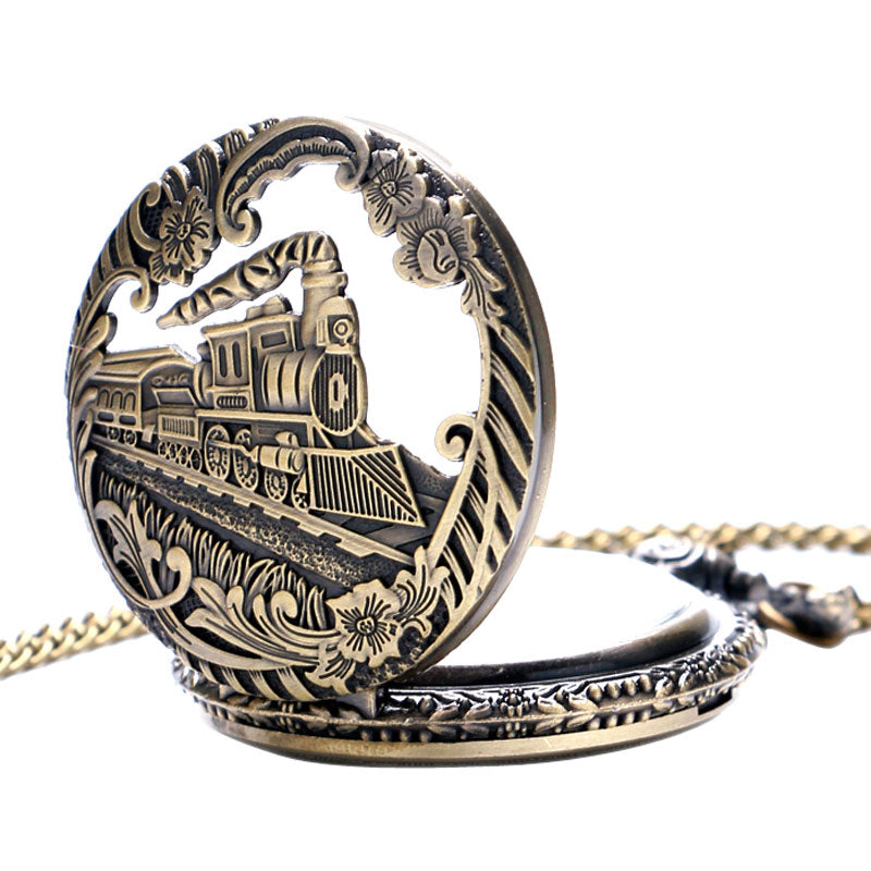 Vintage Steampunk Locomotive Pocket Watch