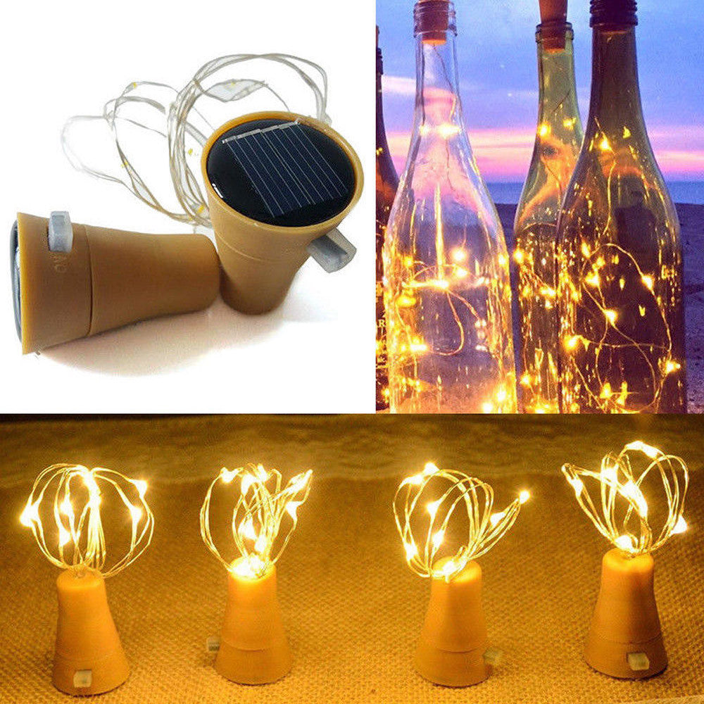 Solar Bottle Cork Decorative Light