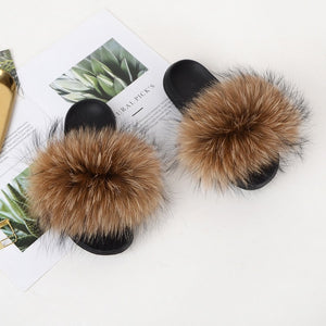 Chic Furry Fluffy Slides