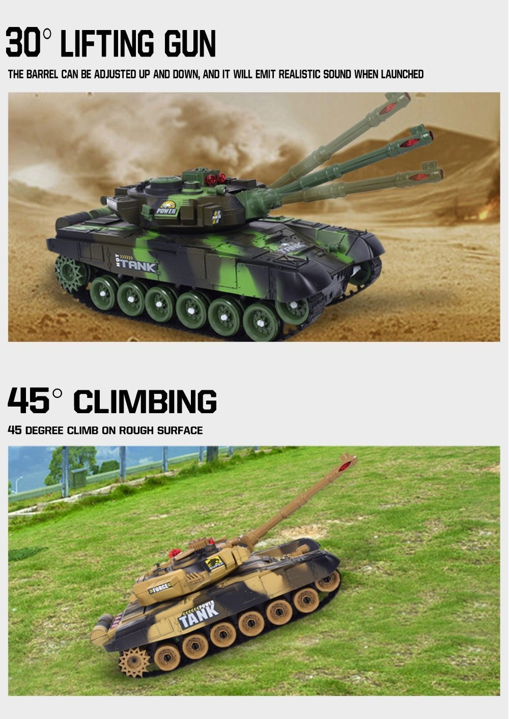 rc tank features