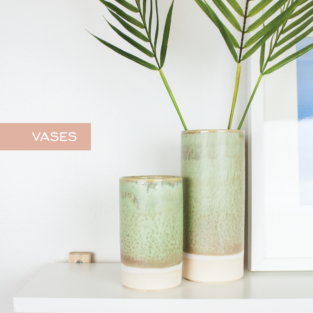 Handmade ceramic flower vases and bud vases by Barombi Studios