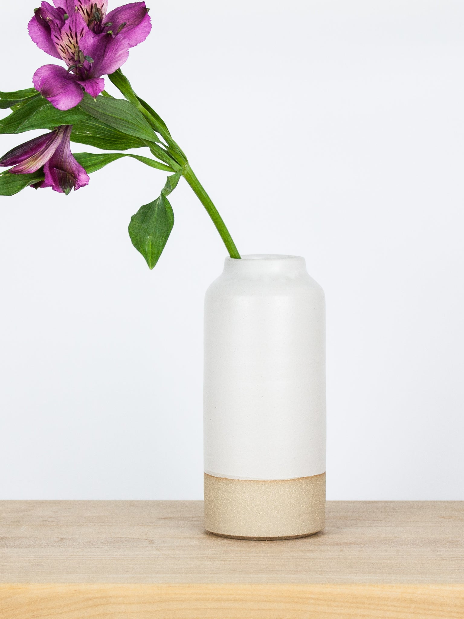 Medium White Bottle Vase