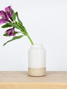 Small White Bottle Vase