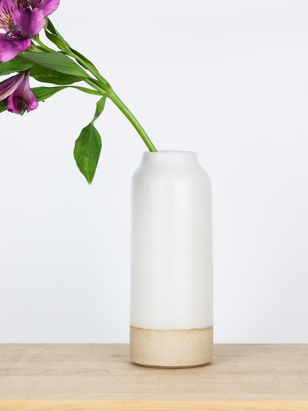Large White Bottle Vase
