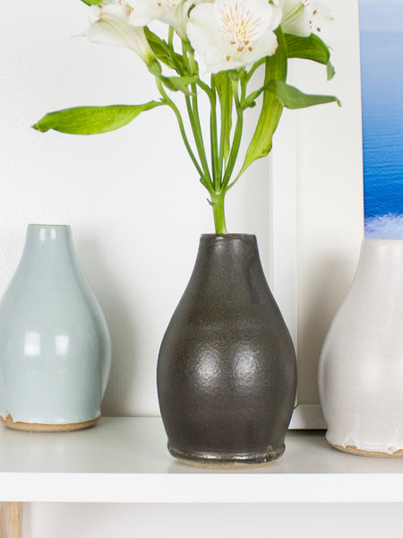 Black Drop Bud Vase