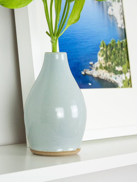 Blue Drop Bud Vase