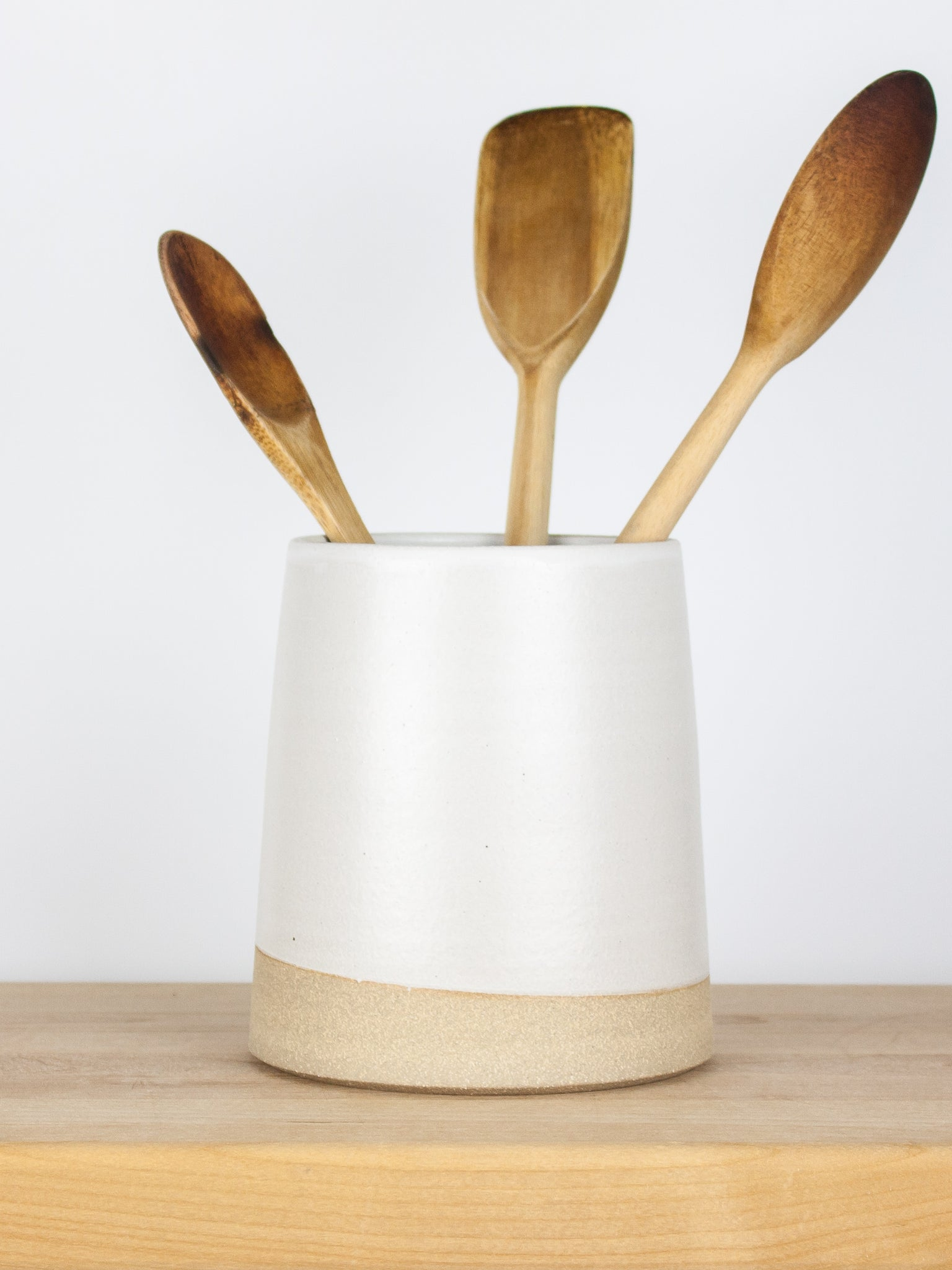 White Utensil Holder