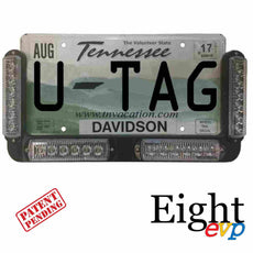 U-TAG LED warning light license plate tag frame