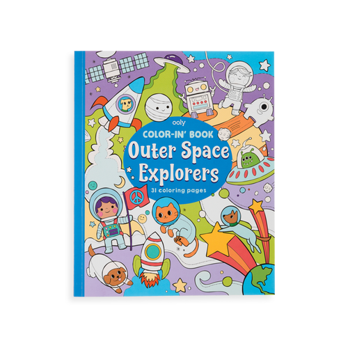 Outer Space Explorers Colour in Book