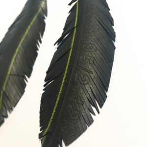 "Bicycle Tyre Earrings Large ""Feather"""