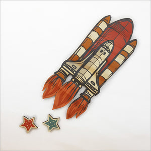 Rocket - Pine wall Art