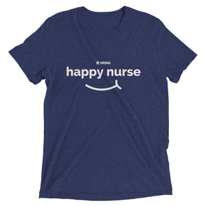 """Happy Nurse"" Mens Short sleeve t-shirt"
