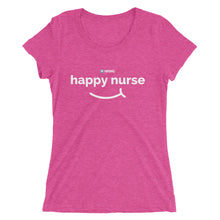 """Happy Nurse"" Ladies' short sleeve t-shirt (3 Colors)"