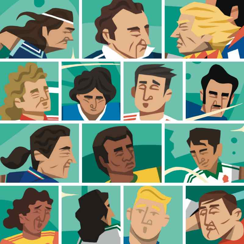 Footballers' hairstyles in World At Your Feet