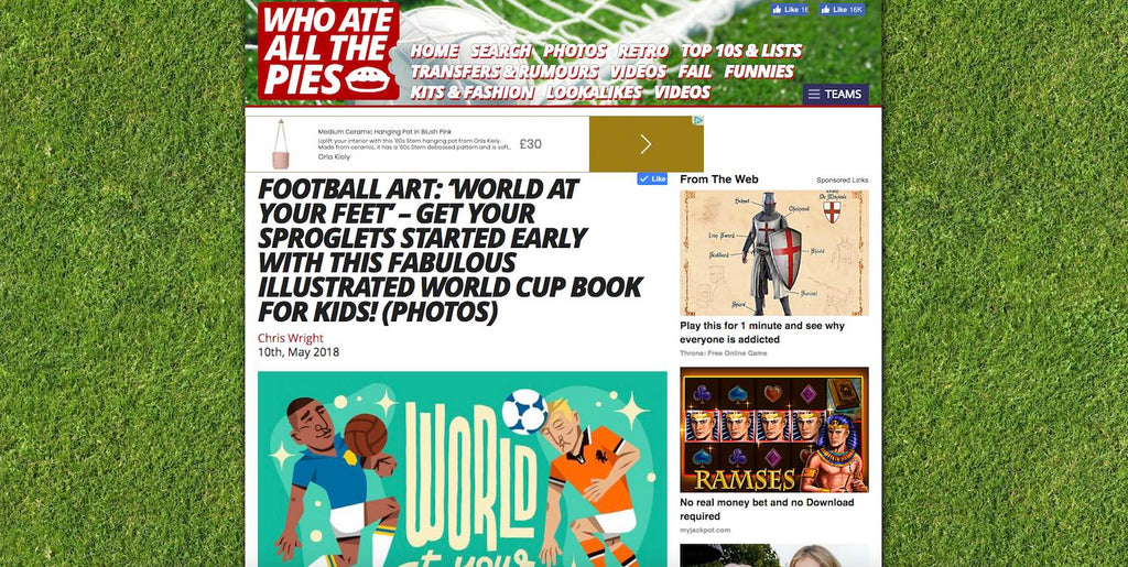 Children's Football Book World At Your Feet reviewed on Who Ate All The Pies